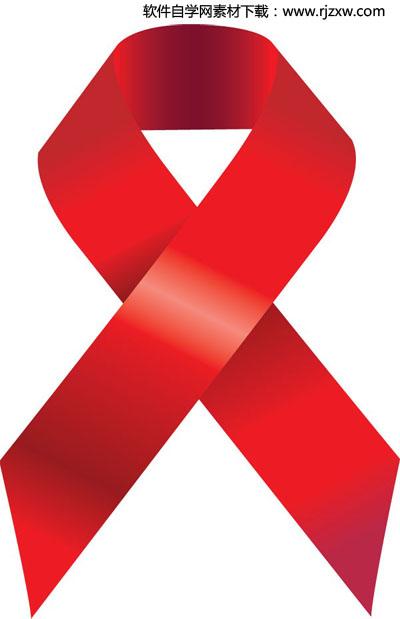 aids艾滋病标志矢量图标志