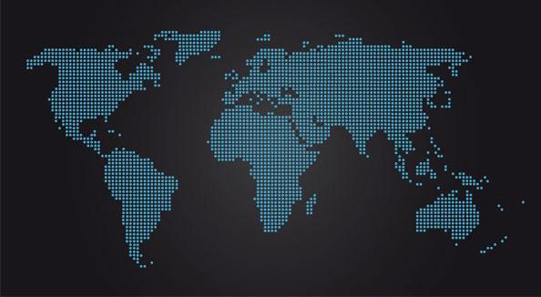 世界地图点状形风格矢量图素材下载