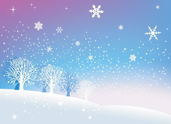 点击:981 次 素材简介: 矢量风景,雪景,冬天,下雪,雪花,雪地,树木,银