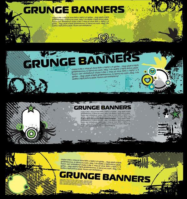 复古风格的banner标题模版素材下载