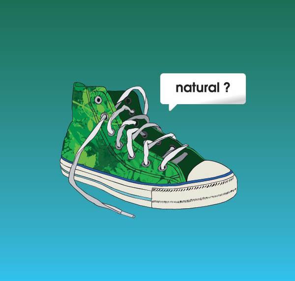 绿色时尚帆布运动鞋矢量图素材下载