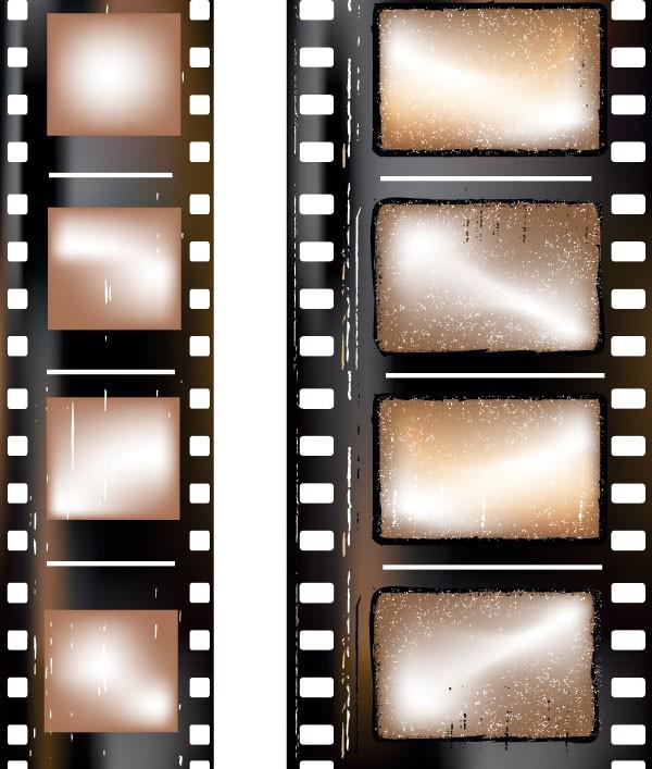 怀旧风格电影胶片矢量图素材下载