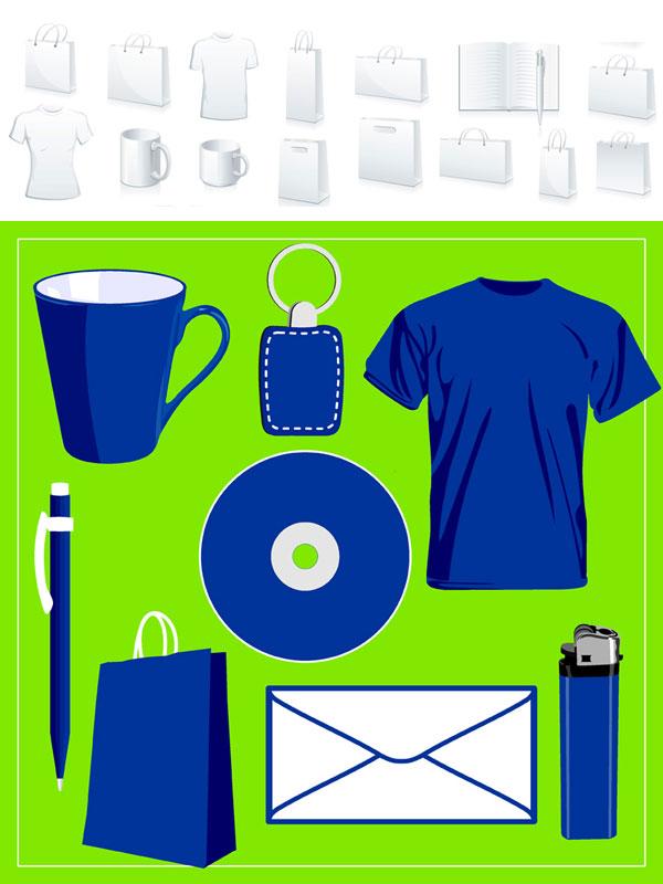 空白vi设计与常用物品矢量图素材下载免费素材下载
