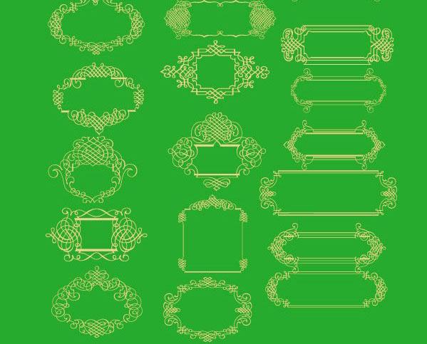 一款中国传统富贵花圆形花纹矢量图素材下载