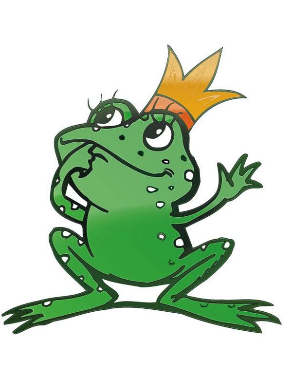 青蛙王子卡通矢量图