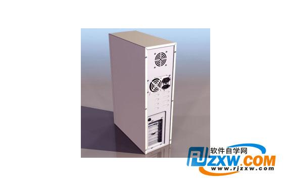 电脑主机3dmax模型免费素材下载