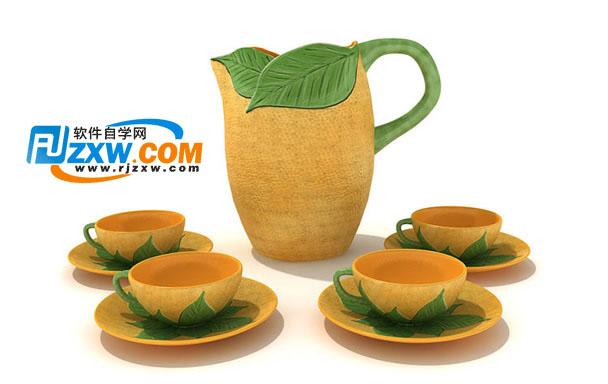 陶瓷茶具3dmax模型免费素材下载高清图片