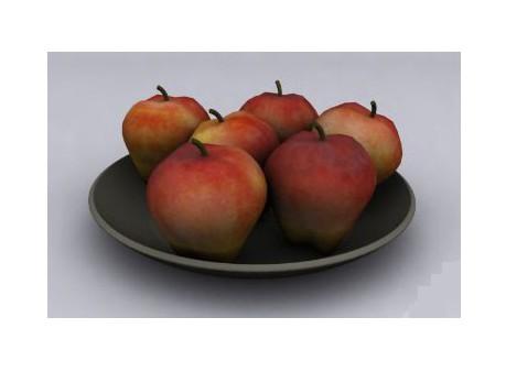 3dmax苹果果盘模型免费素材下载