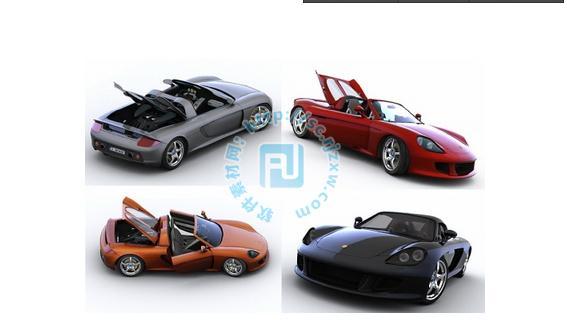 2014年新款保时捷跑车3D模型免费素材下载