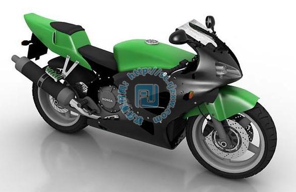 新款本田越野摩托车3dmax模型
