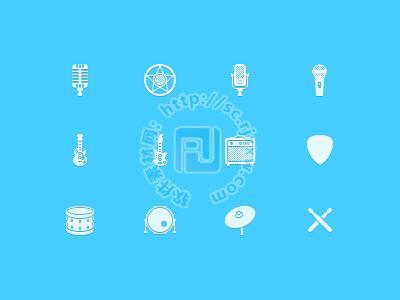 原创音乐类元素图标psd素材免费素材下载
