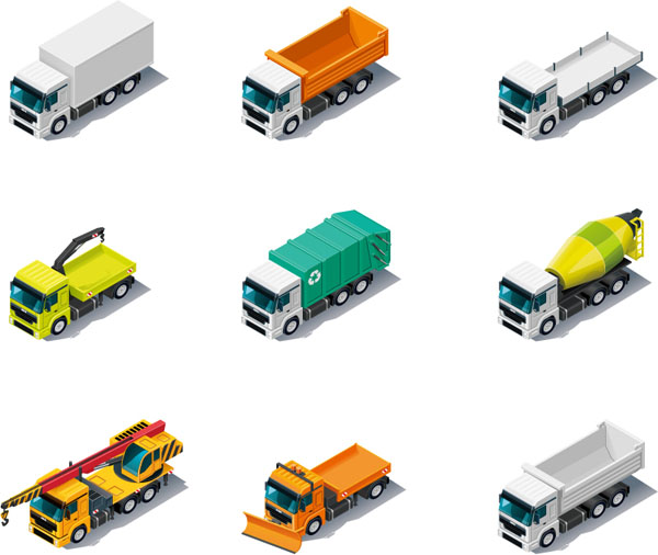 运输卡车矢量图免费素材下载高清图片