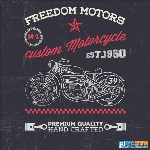 摩托车海报矢量图免费素材下载