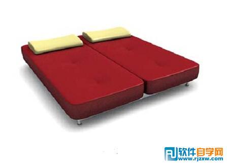 3dmax双人按摩床模型免费素材下载