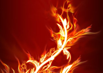 ps制作超酷的火焰花纹
