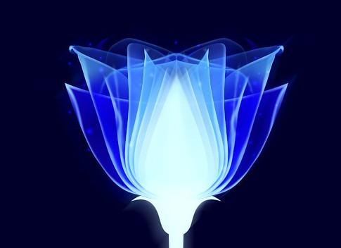 打造梦幻的蓝色光束花朵