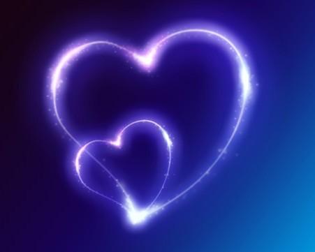photoshop打造蓝色梦幻的心形