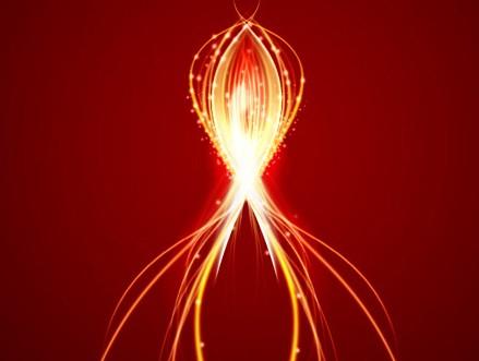打造梦幻的红色光束流星
