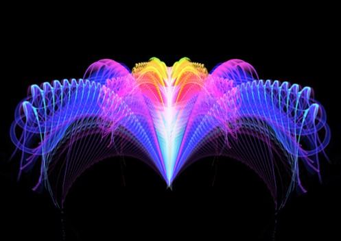 象彩色光束花朵