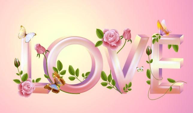 photoshop制作花纹装饰的爱情立体字