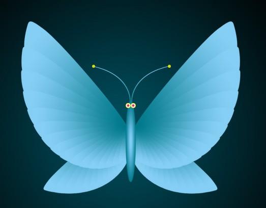 photoshop制作一只简单的卡通蝴蝶