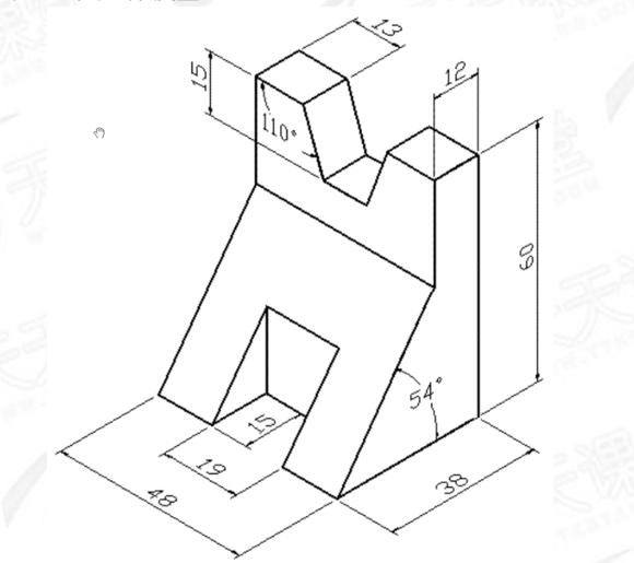 轴测图里的角度怎么画啊?求助!